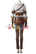 画像4: ウィッチャー3 ワイルドハント シリラ The Witcher 3: Wild Hunt Cirilla ブーツ付き コスプレ衣装 (4)