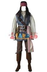 画像2: ジャック スパロウ パイレーツ オブ カリビアン/最後の海賊 コスプレ衣装 cosplay (2)