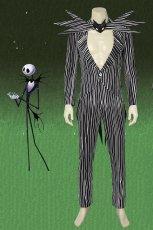 画像1: ナイトメアー・ビフォア・クリスマス ジャック・スケリントン The Nightmare Before Christmas Jack Skellington コスプレ衣装 コスチューム cosplay (1)