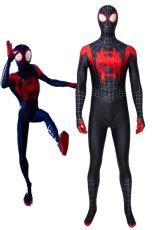 画像1: スパイダーマン: スパイダーバース(原題:Spider-Man: Into the Spider-Verse)マイルズ・モラレス 修正版 コスプレ衣装 (1)