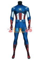 画像2: アベンジャーズ キャプテン アメリカ ジャンプスーツ The Avengers Captain America Zentai Jumpsuit Bodysuit コスプレ衣装  映画 コスチューム cosplay (2)