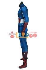 画像4: アベンジャーズ キャプテン アメリカ ジャンプスーツ The Avengers Captain America Zentai Jumpsuit Bodysuit コスプレ衣装  映画 コスチューム cosplay (4)