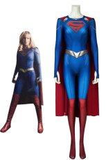 画像1: スーパーガール シーズン5 カーラ・ゾーエル ジャンプスーツ Supergirl Season 5 Kara Zor-el Zentai Jumpsuit Bodysuit 3D Print ジャンプスーツ コスプレ衣装 (1)