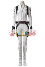 画像2: ブラック・ウィドウ ナターシャ・ロマノフ Black Widow Natasha Romanoff White suit ブーツ付き コスプレ衣装  映画 コスチューム cosplay (2)