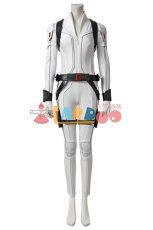 画像1: ブラック・ウィドウ ナターシャ・ロマノフ Black Widow Natasha Romanoff White suit コスプレ衣装  映画 コスチューム cosplay (1)