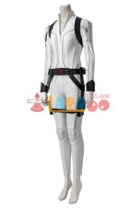 画像5: ブラック・ウィドウ ナターシャ・ロマノフ Black Widow Natasha Romanoff White suit ブーツ付き コスプレ衣装  映画 コスチューム cosplay (5)