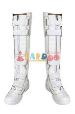 画像8: ブラック・ウィドウ ナターシャ・ロマノフ Black Widow Natasha Romanoff White suit ブーツ付き コスプレ衣装  映画 コスチューム cosplay (8)