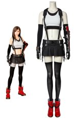 画像1: ファイナルファンタジーVII ティファ・ロックハート Final Fantasy 7 Tifa Lockhart ブーツ付き コスプレ衣装 コスプレ コスチューム ゲーム cosplay (1)