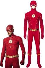 画像1: フラッシュ シーズン6 バリー・アレン The Flash Season 6 Barry Allen 修正版 ブーツ付き コスプレ衣装 コスチューム cosplay (1)