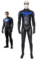画像1: タイタンズ シーズン1 ナイトウィング ディック・グレイソン Titans Season 1 Nightwing Dick Grayson ブーツ付き コスプレ衣装 コスチューム ゲーム cosplay (1)
