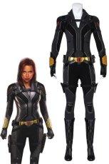 画像1: ブラック・ウィドウ ナターシャ・ロマノフ Black Widow Natasha Romanoff suit ブーツ付き コスプレ衣装  2020映画 コスチューム cosplay (1)