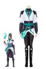 画像1: ヴァロラント VALORANT サガ saga コスプレ衣装 コスチューム ゲーム cosplay (1)