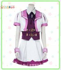 画像2: ウマ娘 プリティーダービー スペシャルウィーク 勝負服 コスプレ衣装  コスチューム cosplay (2)