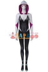 画像2: スパイダーマン: スパイダーバース Spider-Man: Into the Spider-Verse グウェン ステイシー ジャンプスーツ コスプレ衣装  コスチューム ハロウィン cosplay (2)