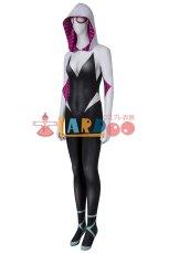画像3: スパイダーマン: スパイダーバース Spider-Man: Into the Spider-Verse グウェン ステイシー ジャンプスーツ コスプレ衣装  コスチューム ハロウィン cosplay (3)