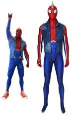 画像1: PS4 スパイダーマン スパイダー・パンク・スーツ Marvel's Spider-Man Spider-Punk Suit ジャンプスーツ コスプレ衣装  映画 コスチューム ハロウィン cosplay (1)