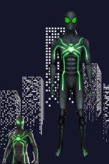 画像1: PS4 スパイダーマン ステルス・スーツ(ビッグタイム版) spider man PS4 Stealth Big Time suit ジャンプスーツ コスプレ衣装  コスチューム cosplay (1)
