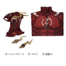 画像7: インジャスティス2  Injustice 2 フラッシュ THE FLASH ジャンプスーツ コスプレ衣装  コスチューム cosplay (7)
