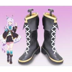 画像1: ウマ娘 プリティーダービー メジロマックイーン コスプレ靴 コスプレブーツ コスチューム cosplay (1)