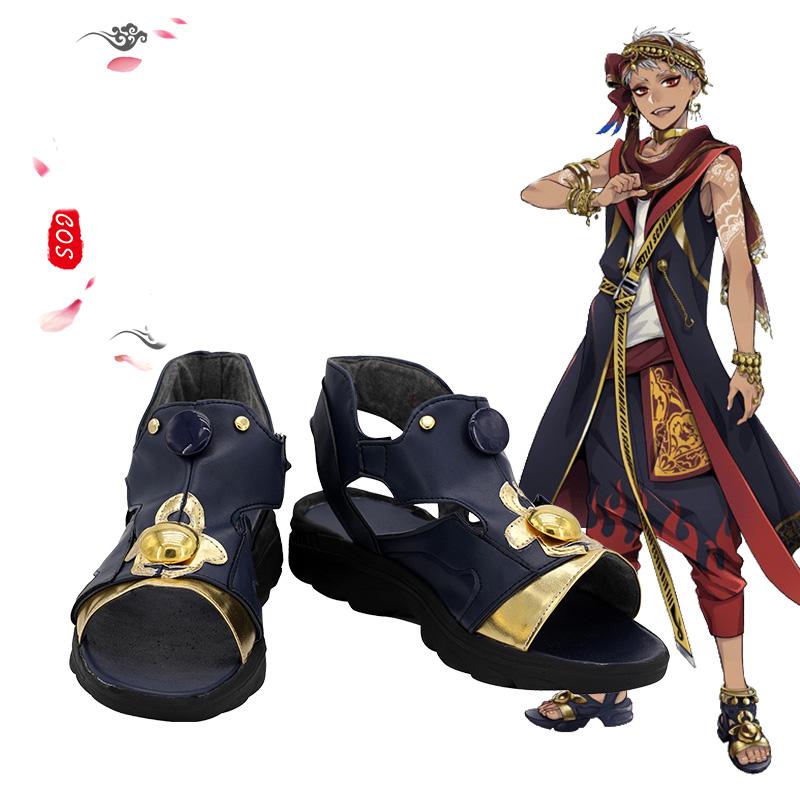 画像1: ツイステッドワンダーランド ツイステ スカラビア寮 カリム・アルアジーム ジャミル・バイパー コスプレ靴/ブーツ コスチューム ゲーム cosplay (1)