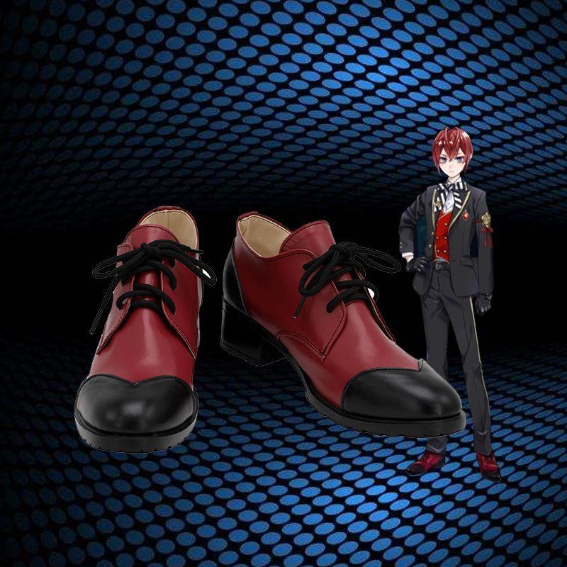 画像1: ツイステッドワンダーランド ツイステ ハーツラビュル寮 リドル・ローズハート コスプレ靴/ブーツ コスチューム ゲーム cosplay (1)