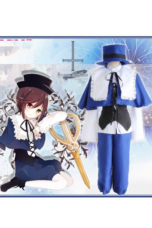 画像1: ローゼンメイデン 蒼星石 コスプレ衣装 コスチューム cosplay (1)