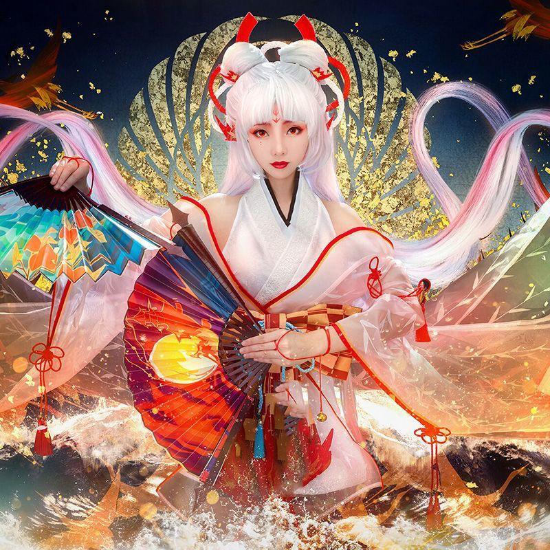 画像1: 陰陽師 SSR 不知火 大正風 コスプレ衣装 コスチューム cosplay (1)