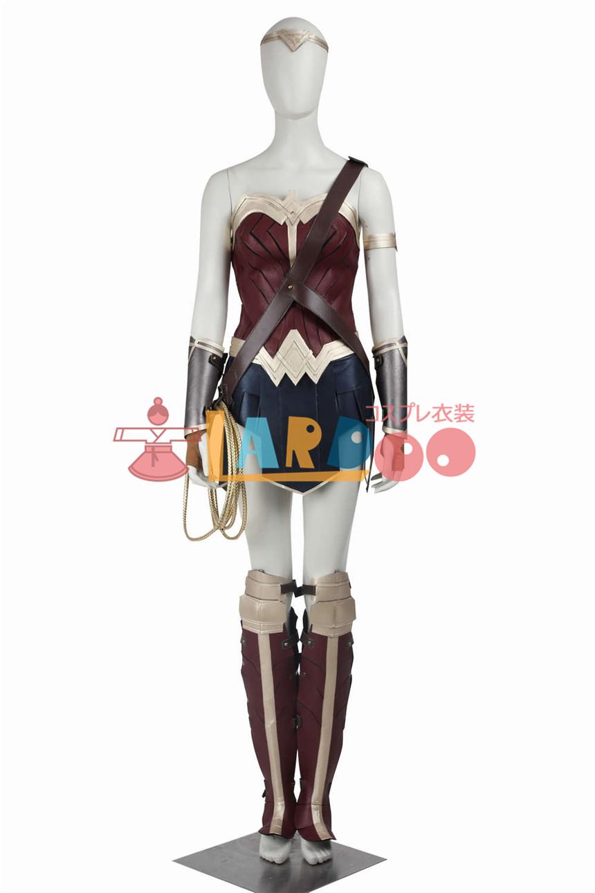 画像1: Justice League ジャスティス リーグ ワンダー ウーマン ダイアナ プリンス コスプレ衣装 (1)
