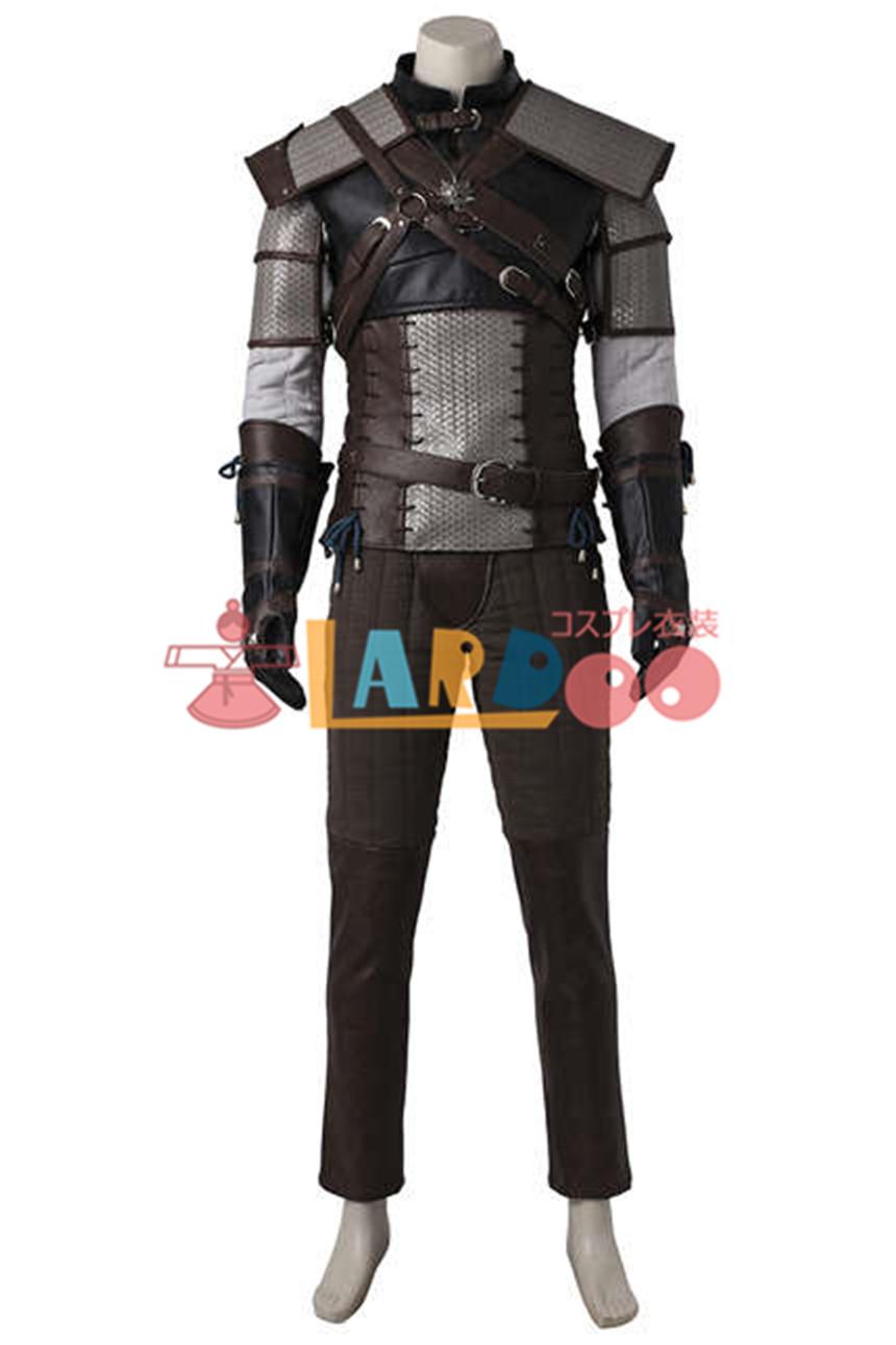 画像1: ウィッチャー3:ワイルドハント リヴィアのゲラルト 主人公 コスプレ衣装 アニメ コスプレ コスチューム ゲーム cosplay (1)
