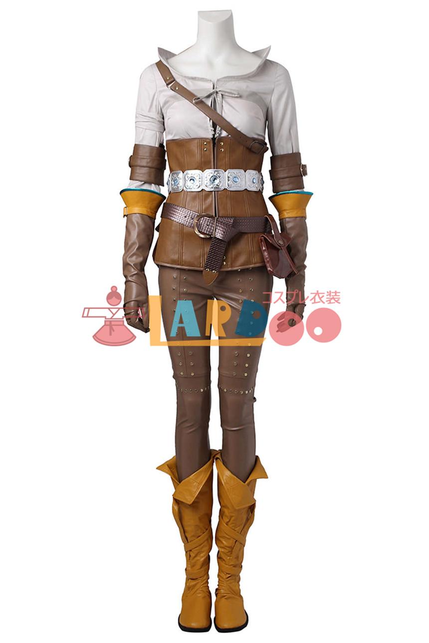 画像1: ウィッチャー3 ワイルドハント シリラ The Witcher 3: Wild Hunt Cirilla ブーツ付き コスプレ衣装 (1)