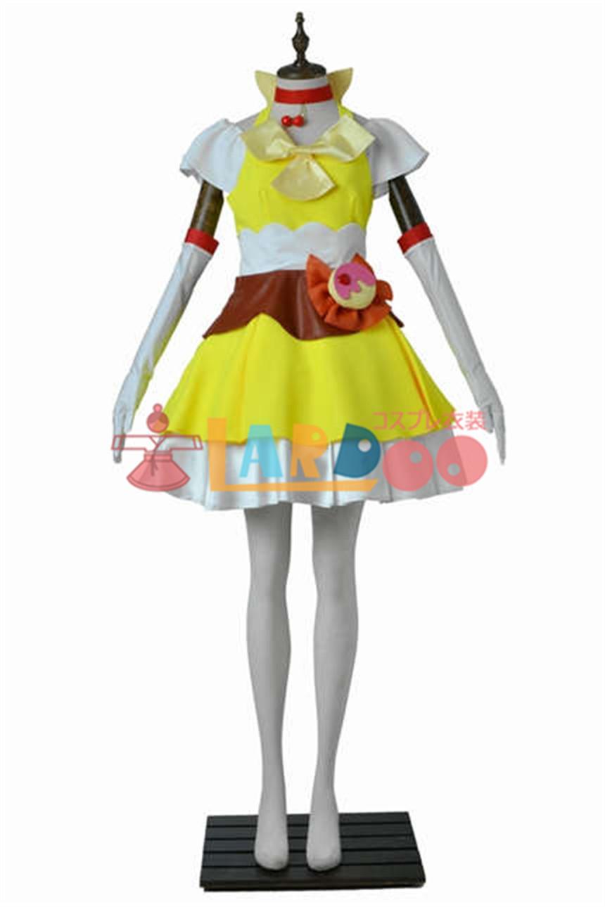 画像1: キラキラ☆プリキュアアラモード 有栖川 ひまり キュアカスタード コスプレ衣装 アニメ コスプレ コスチューム ゲーム cosplay (1)