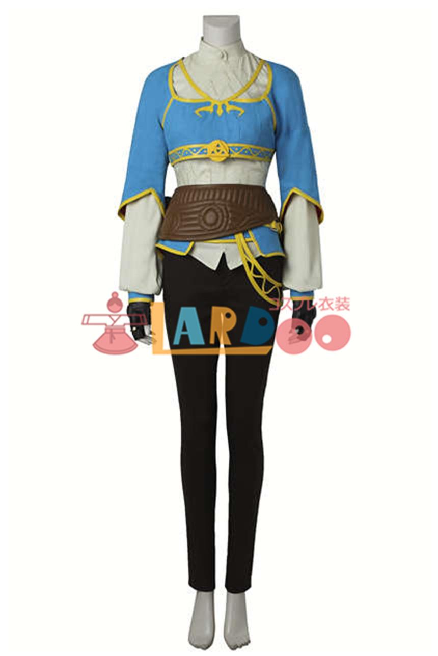 画像1: ゼルダの伝説 ブレス オブ ザ ワイルド ゼルダ姫 ブーツ付き コスプレ衣装 アニメ コスプレ コスチューム ゲーム cosplay (1)