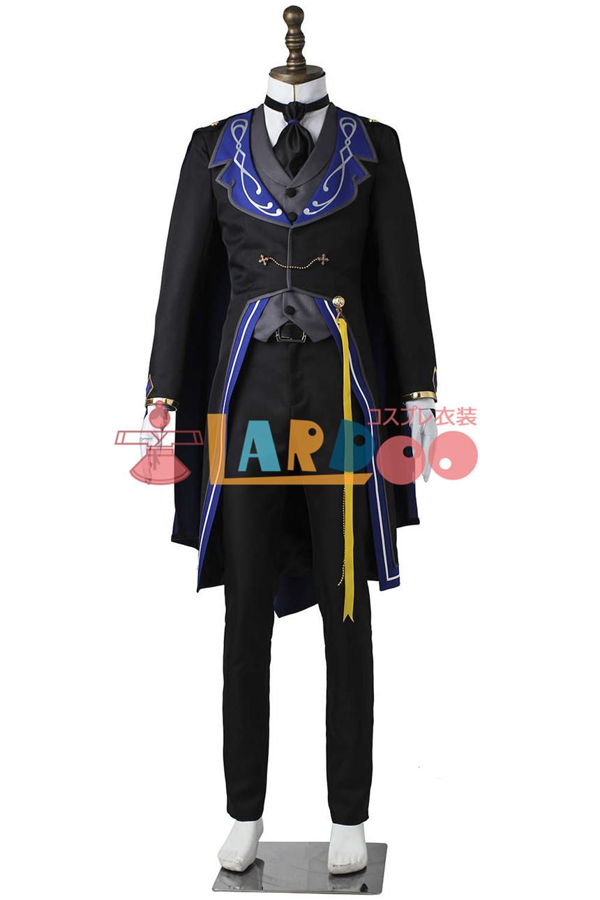 画像1: あんさんぶるスターズ! 追憶*モノクロのチェックメイト 鳴上嵐 コスプレ衣装 アニメ コスプレ コスチューム ゲーム cosplay (1)