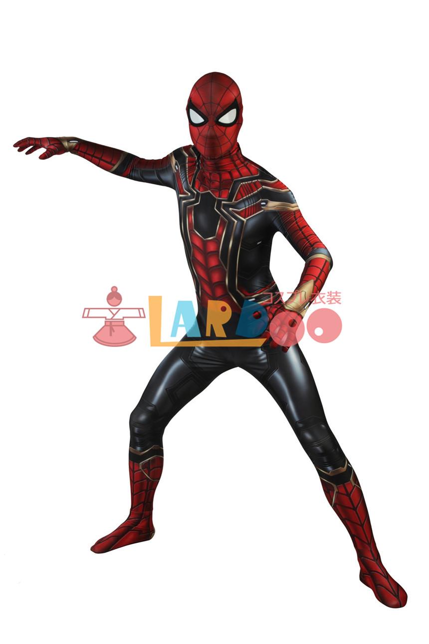 画像1: アベンジャーズ/インフィニティ・ウォー   ピーター・パーカー  スパイダーマン コスプレ衣装 アニメ コスプレ コスチューム ゲーム cosplay (1)