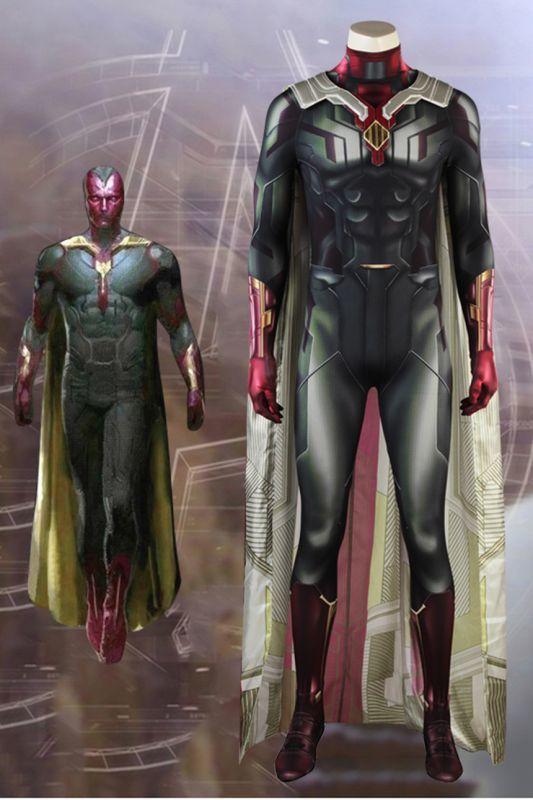 画像1: アベンジャーズ/インフィニティ・ウォーAvengers: Infinity War ヴィジョン コスプレ衣装 アニメ コスプレ コスチューム ゲーム cosplay (1)