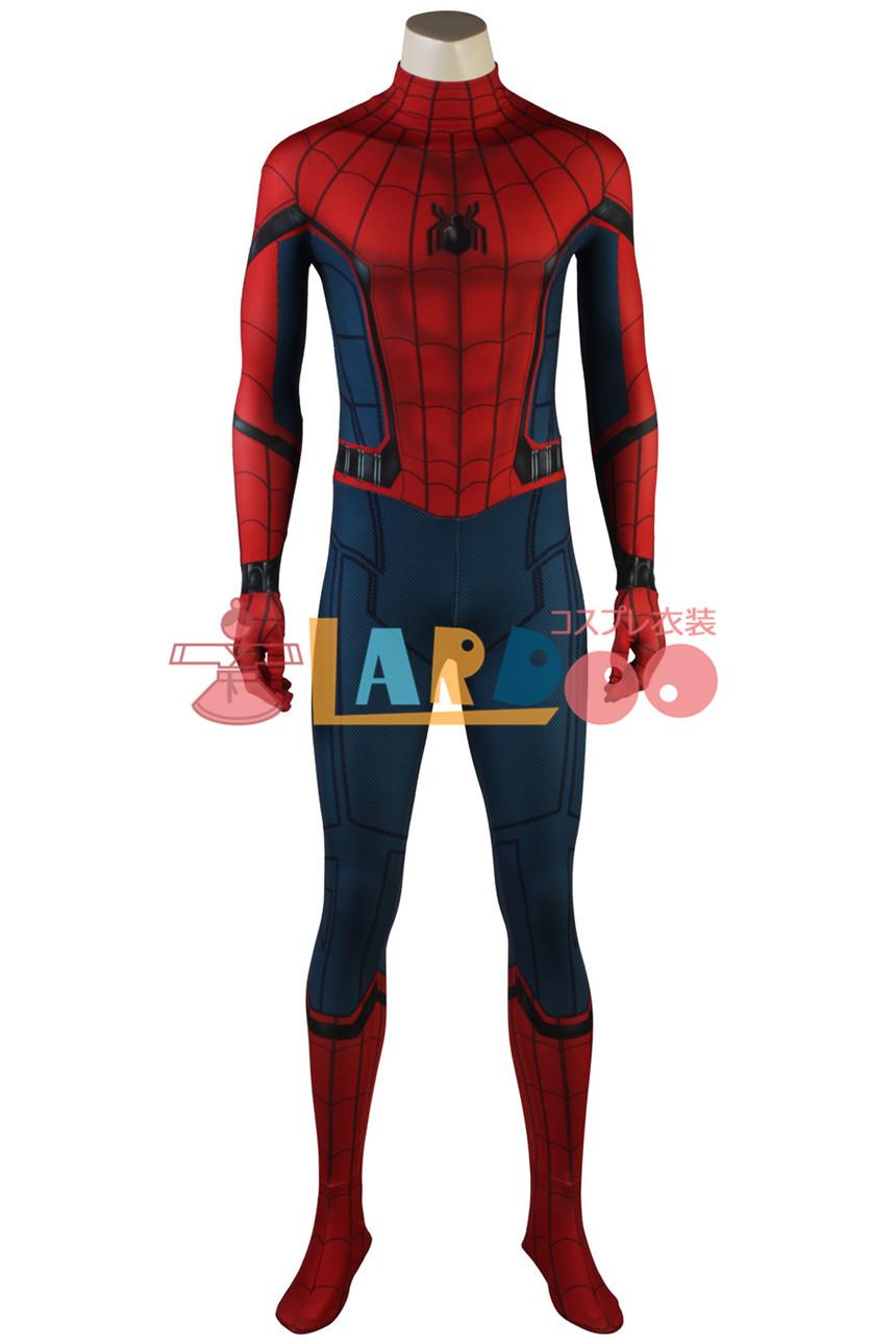 画像1: スパイダーマンホームカミング ピーター ベンジャミン パーカー ジャンプスーツ コスプレ衣装 アニメ コスプレ コスチューム ゲーム cosplay (1)