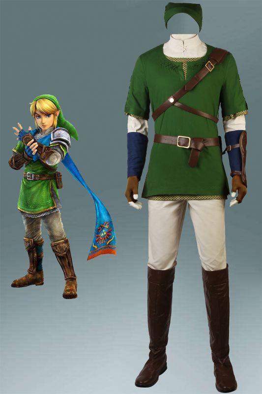 画像1: ゼルダの伝説 トワイライトプリンセス The Legend of Zelda: Twilight Princess「トワプリ」リンク ブーツ付き コスプレ衣装 アニメ コスプレ コスチューム ゲーム cosplay (1)