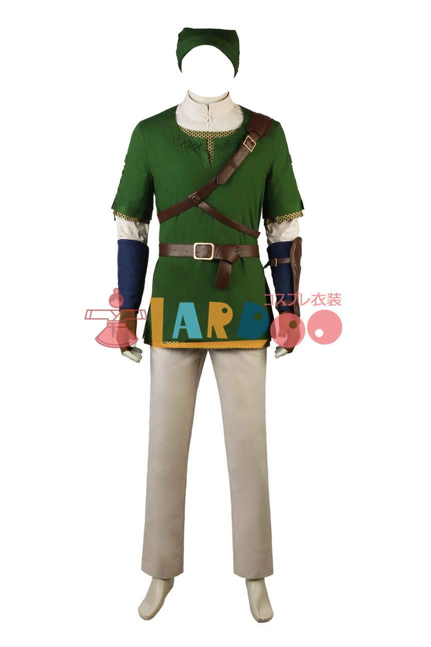 画像1: ゼルダの伝説 トワイライトプリンセス The Legend of Zelda: Twilight Princess「トワプリ」リンク コスプレ衣装 アニメ コスプレ コスチューム ゲーム cosplay (1)