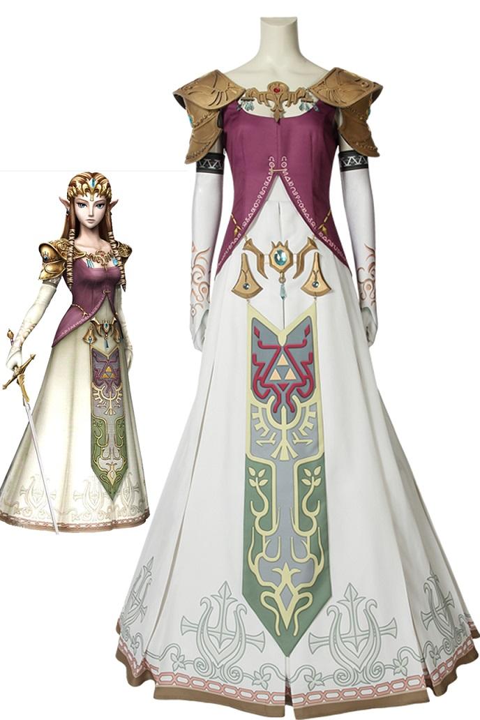 画像1: ゼルダの伝説 トワイライトプリンセス「トワプリ」ゼルダ姫 The Legend of Zelda: Twilight Princess Princess Zelda コスプレ衣装 ゲーム cosplay コスチューム (1)