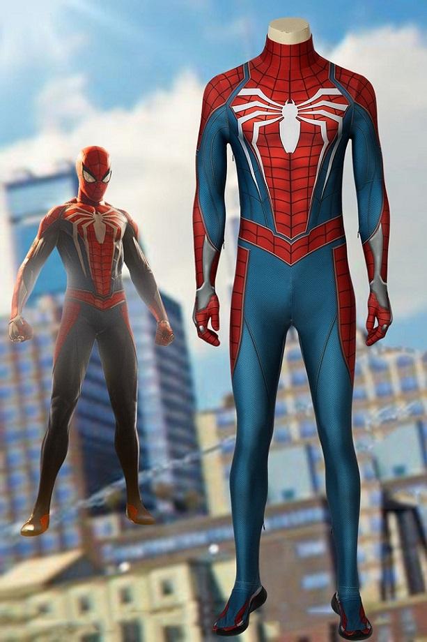 画像1: Spider-Man スパイダーマン PS4 ジャンプスーツコスプレ衣装 コスチューム ゲーム cosplay (1)