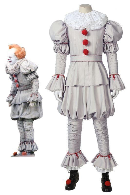 画像1: IT/イット2  ペニーワイズ ピエロ It Pennywise the Dancing Clown ブーツ付き コスプレ衣装 コスプレ コスチューム ゲーム cosplay (1)