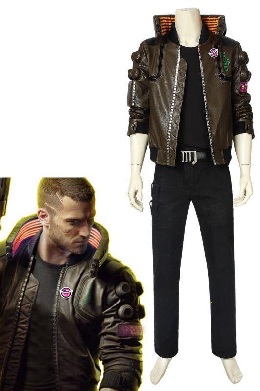 画像1: サイバーパンク2077 ヴィー Cyberpunk 2077 V 男性主人公 コスプレ衣装 コスチューム ゲーム cosplay (1)