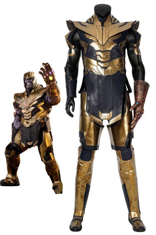 画像1: アベンジャーズ/エンドゲーム サノス Avengers4: Endgame Thanos ブーツ付き コスプレ衣装  映画 コスチューム cosplay (1)