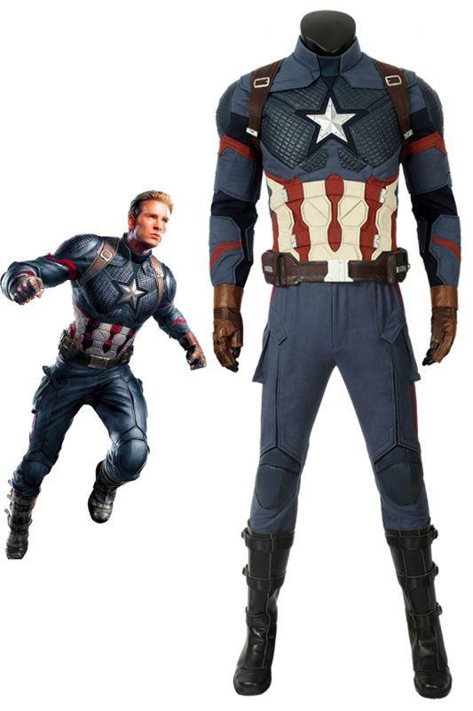 画像1: 【22%OFF-7/21まで】アベンジャーズ/エンドゲーム スティーブ ロジャース キャプテン アメリカ Avengers: Endgame Steven Rogers Captain America ブーツ付き コスプレ衣装  映画 コスチューム ゲーム cosplay (1)