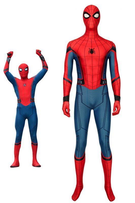 画像1: スパイダーマン:ファー・フロム・ホーム  Spider-Man: Far From Home2019  ピーター・パーカー 修正版 コスプレ衣装 コスチューム 映画 cosplay (1)