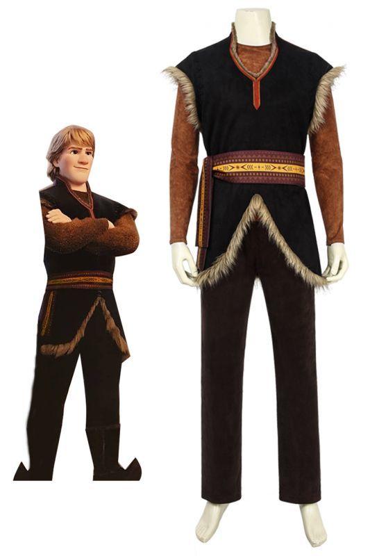 画像1: アナと雪の女王2 クリストフ・ ビョルグマン Frozen II Kristoff Bjorgman コスプレ衣装 アニメ コスチューム ゲーム cosplay (1)