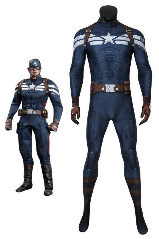 画像1: キャプテン・アメリカ/ウィンター・ソルジャー スティーブ・ロジャース/キャプテン・アメリカ ジャンプスーツ コスプレ衣装  映画 コスチューム cosplay (1)