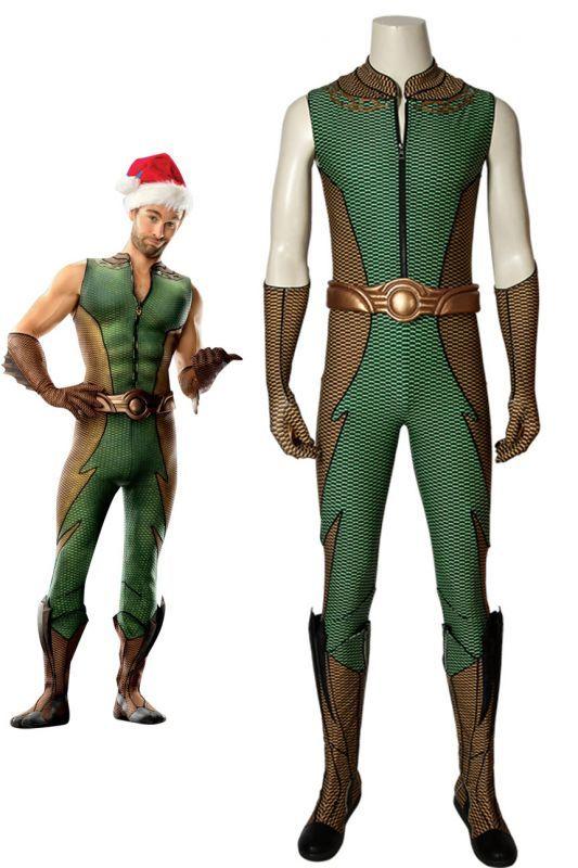 画像1: ザ・ボーイズ シーズン1 ディープ The Boys Season 1 THE DEEP ブーツ付き コスプレ衣装 コスチューム cosplay (1)