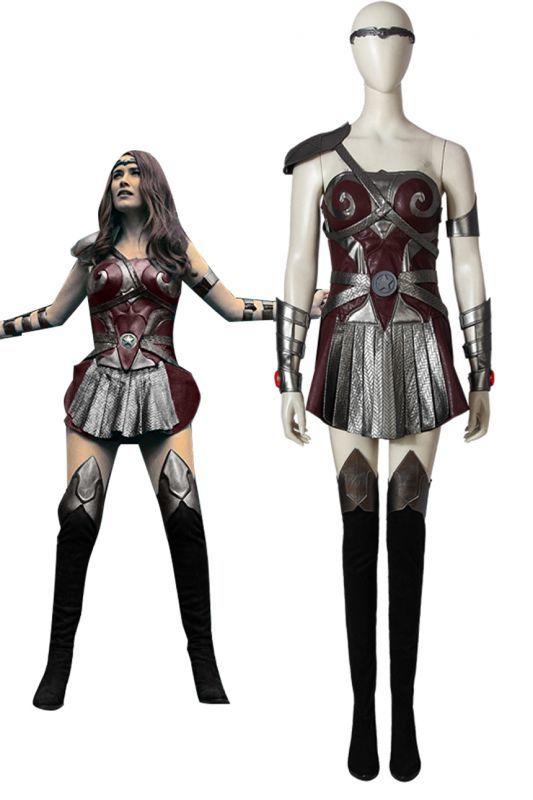 画像1: ザ・ボーイズ シーズン1 クイーン・メイヴ The Boys Season 1 Queen Maeve ブーツ付き コスプレ衣装 コスチューム cosplay (1)