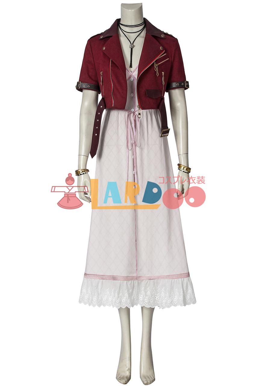 画像1: ファイナルファンタジーVII エアリス・ゲインズブール Final FantasyVII FF7 Aerith Gainsborough コスプレ衣装 コスチューム ゲーム cosplay (1)